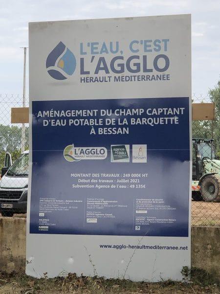 agglomeration herault mediterranee travaux forage bessan eau assainissement